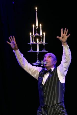 Kerzenbalance mit Monsieur Gerard